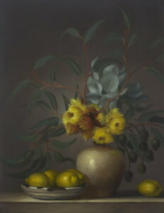 Philip Drummond Eucalyptus Youngiana With Lemons Painting