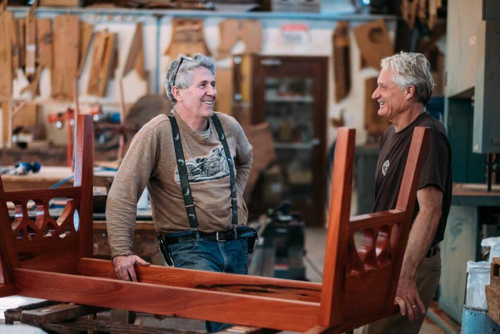 Gary Bennett David Paris Jahroc Furniture Workshop Image