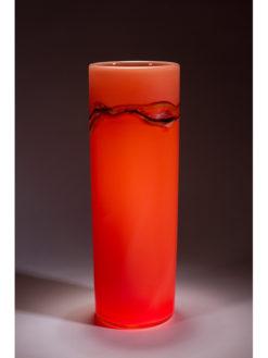 Peter Reynolds   Salmon Coriolis Vase Fine Art