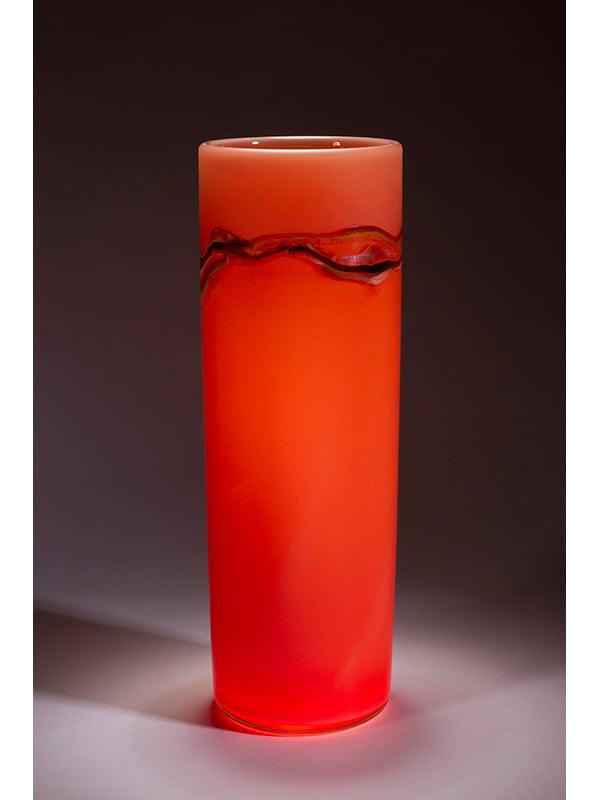 Peter Reynolds Salmon Coriolis Vase