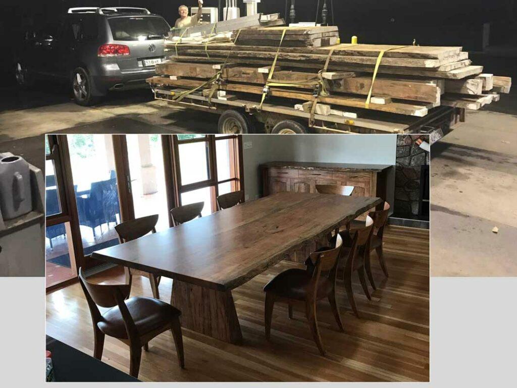 Jellicoe Jahroc Uses Customer Own Marri Timber