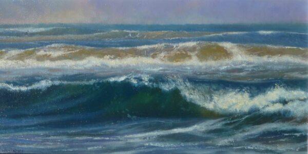Kerry Nobbs White Water Waves Painting
