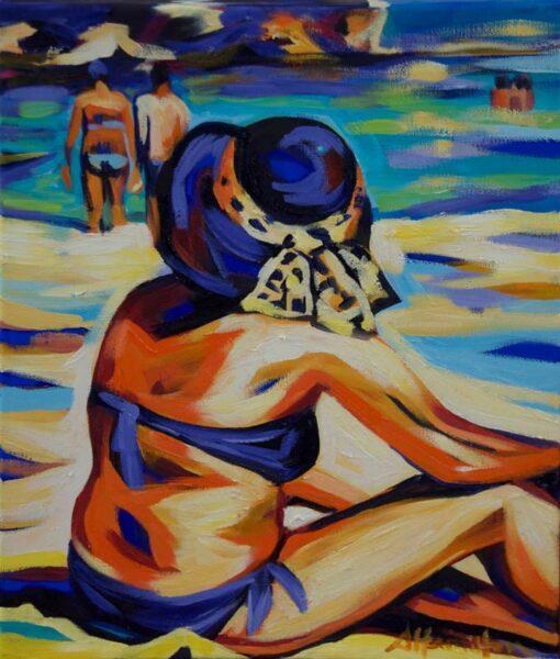 Shannon Hamilton Beach Study The Basin Rottnest Painting