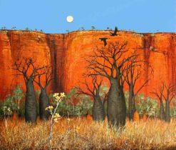 Ingrid Windram   Boabs & The Kapok Flowers Fine Art