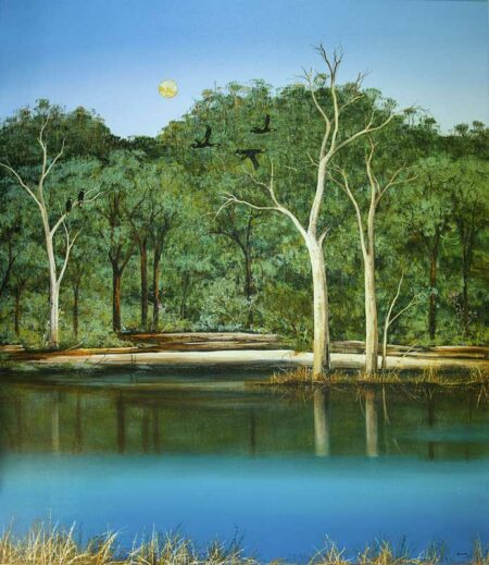 Ingrid Windram Yellow Tails Along The River Painting