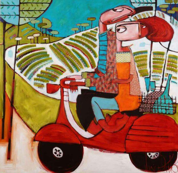 Janine Dadddo Weekend Runaway Painting