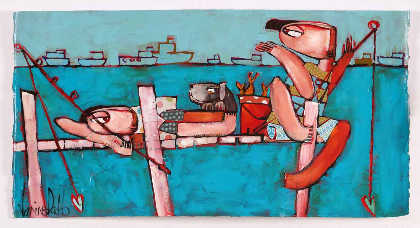Janine Daddo A Good Catch Painting 1