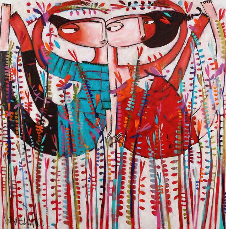 Janine Daddo Head Over Heels Painting
