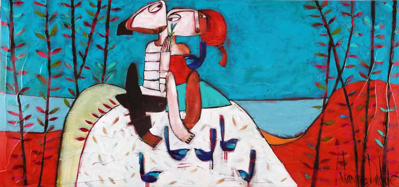 Janine Daddo Sweet Messengers Painting 1