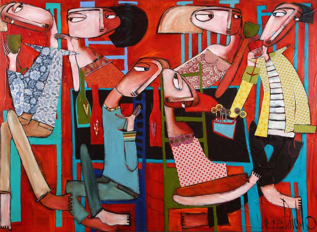 Janine Daddo Talk Of Love Painting