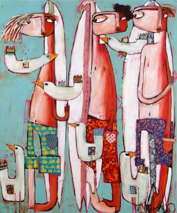 Janine Daddo The Boys Painting
