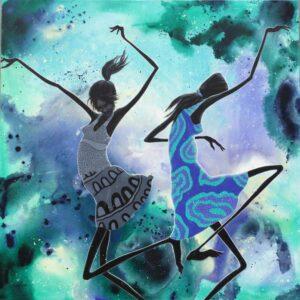 Judy Prosser Desert Dancers In The Monsoon Painting