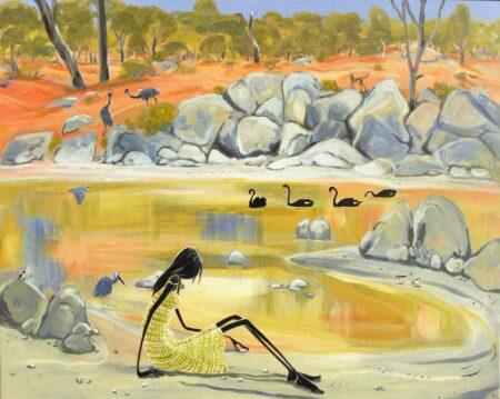 Judy Prosser Murchison River Idyll Painting