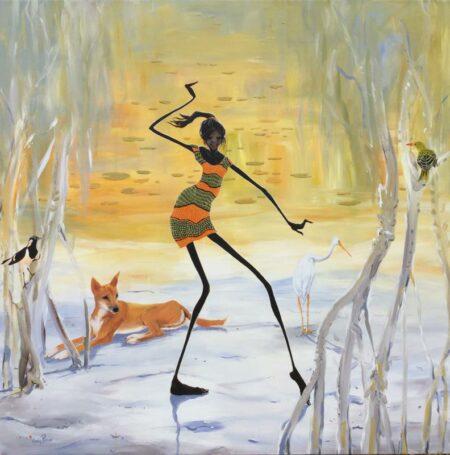 Judy Prosser Wetland Girl Painting