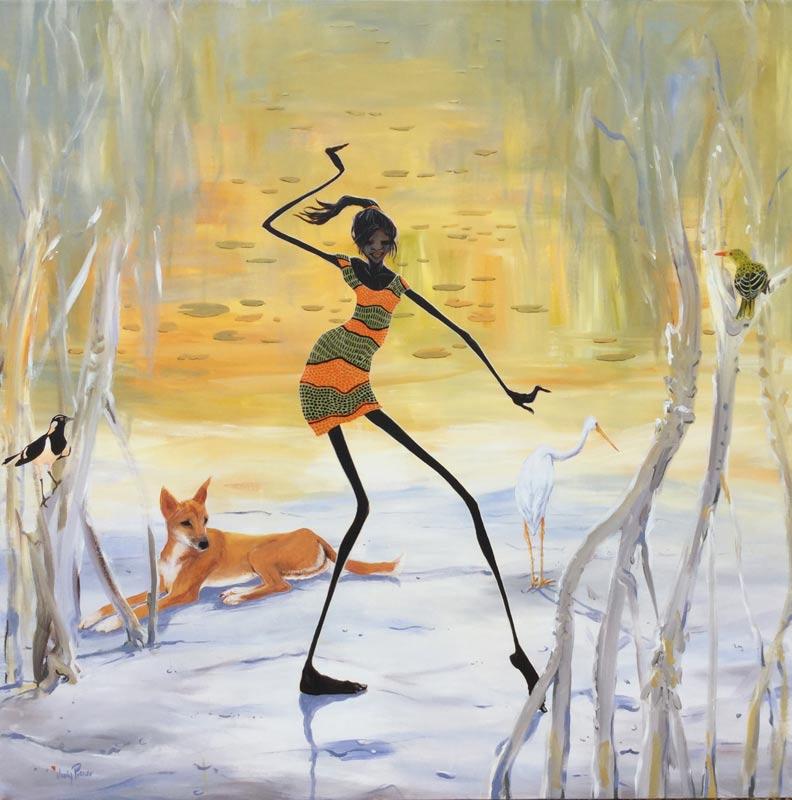Judy Prosser Wetland Girl Buy Art Online Australia