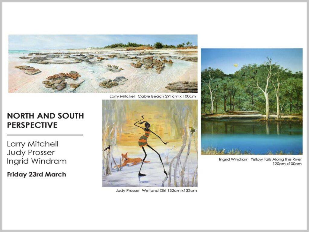 Larry Mitchell, Judy Prosser, Ingrid Windram Exhibition Fine Art