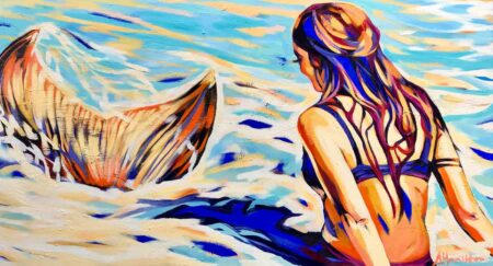 Sha123 Shannon Hamilton Mermaid Surprise At Port Beach 152 X 84 Cm 4500