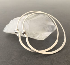 emma cotton forged silver hoops smaller
