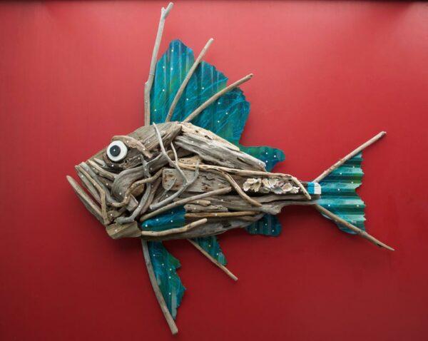 Charles Wilcox Calypso Fish Wall Sculpture