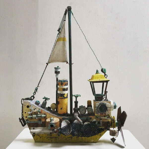 Charles Wilcox The Abalone Hunter Sculpture 1