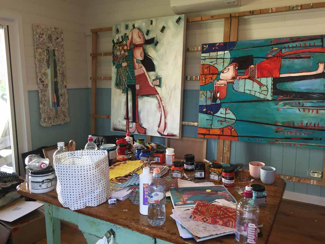 Janine Daddo Artist Studio 1