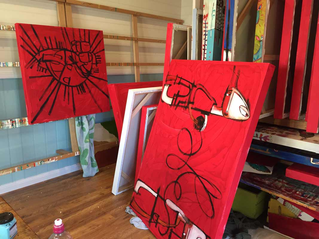 Janine Daddo Artist Studio 7