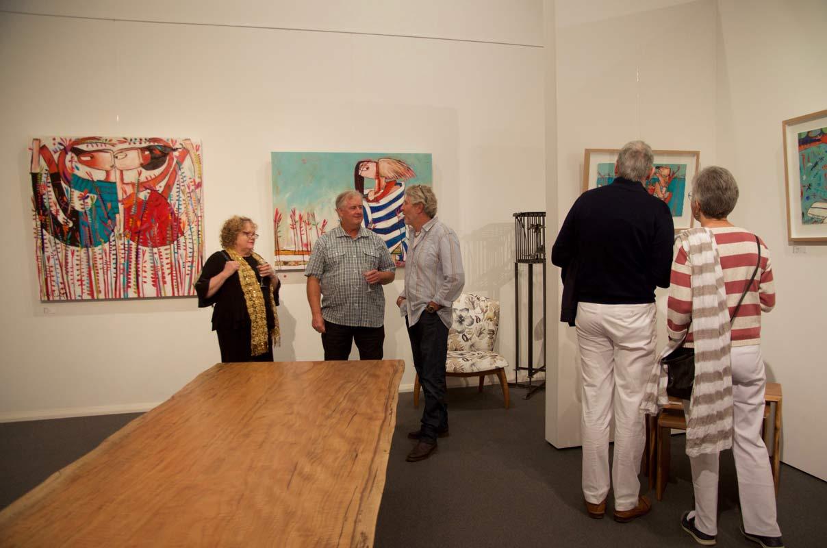 Janine Daddo Exhibition Opening Night At Jahroc Galleries 1