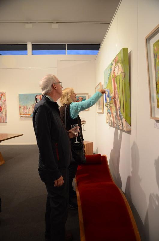 Janine Daddo Exhibition Opening Night At Jahroc Galleries 2