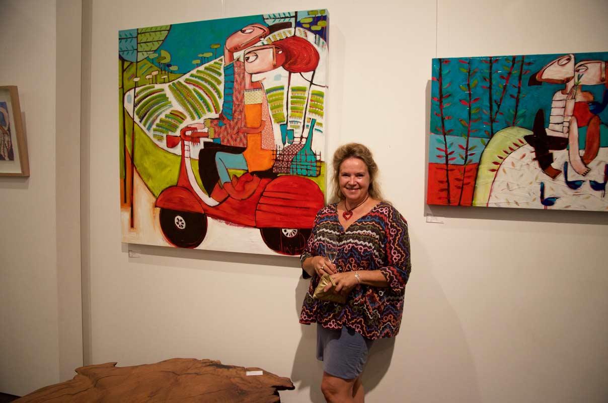 Janine Daddo Exhibition Opening Night At Jahroc Galleries 5