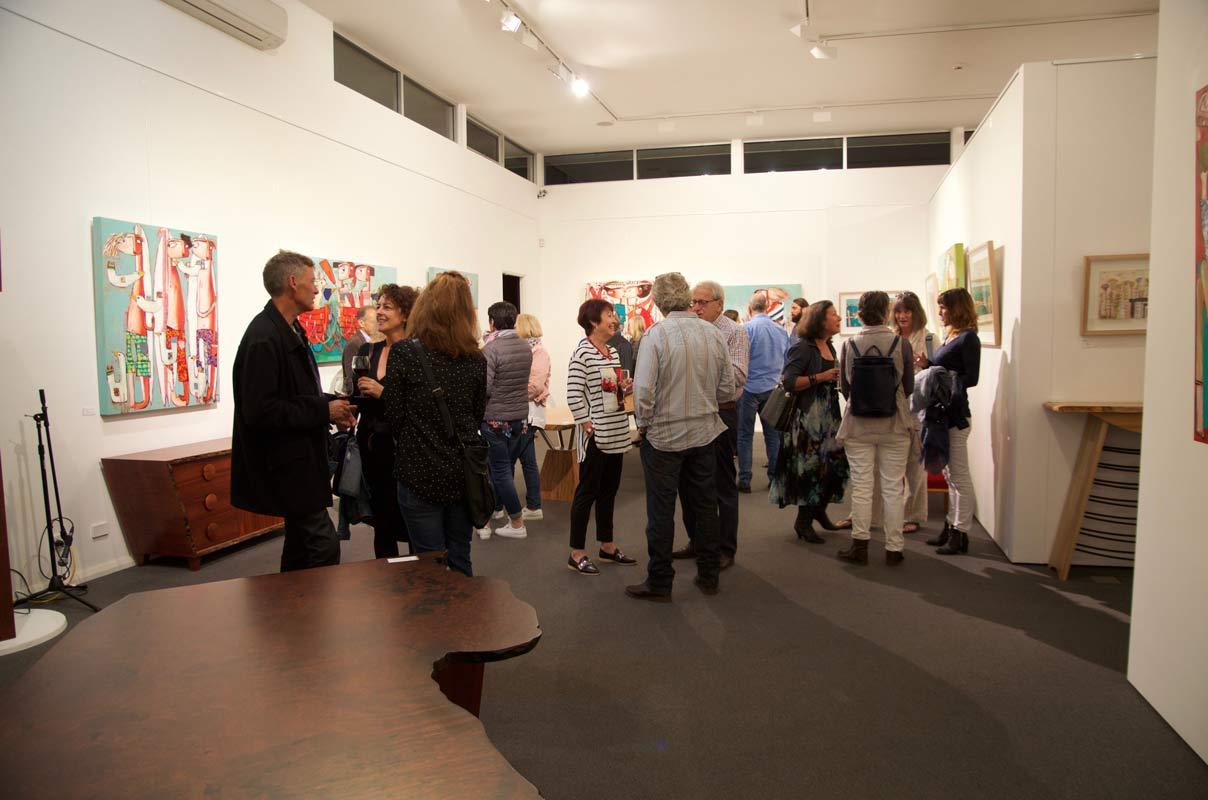 Janine Daddo Exhibition Opening Night At Jahroc Galleries 8