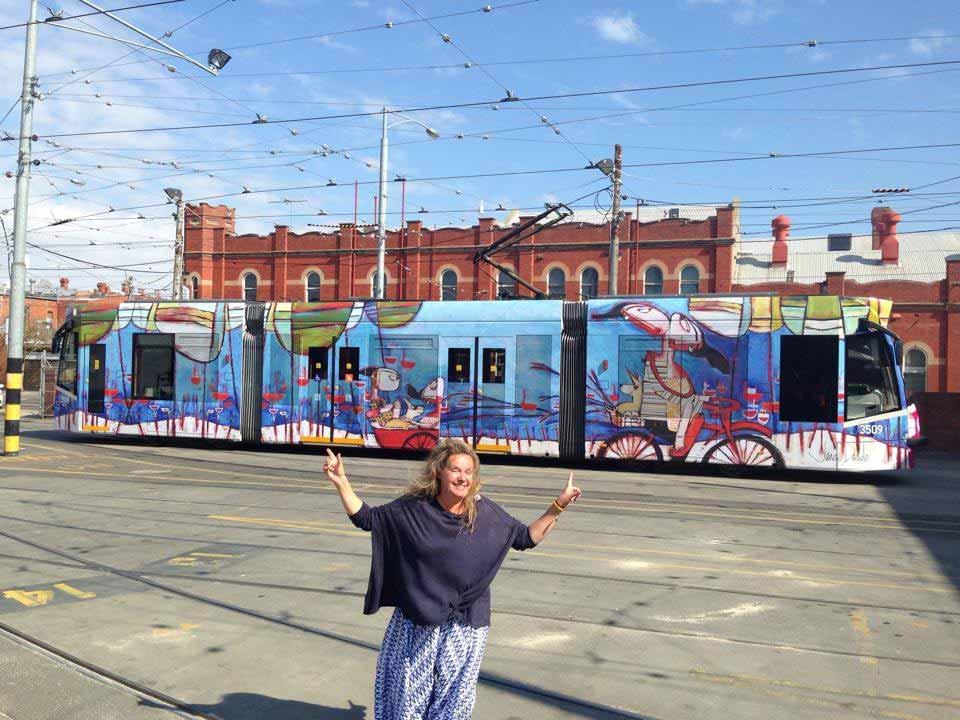 Janine Daddo Melbourne Trams