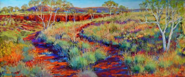 Shirley Fisher The Rim Dales Gorge Pastel Painting
