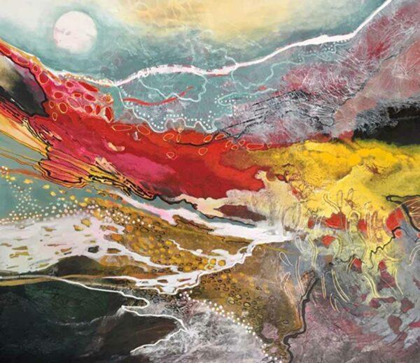 Astrid Dahl Moon Glo Painting