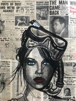 Charles Wilcox   The Diver Newspaper Girl Fine Art
