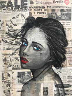Charles Wilcox   The Castaway Newspaper Girl Fine Art