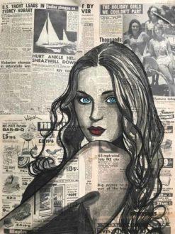 Charles Wilcox   The Sunbaker Newspaper Girl Fine Art