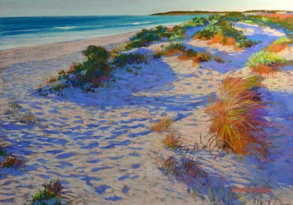 Shirley Fisher Towards Leighton Beach Painting