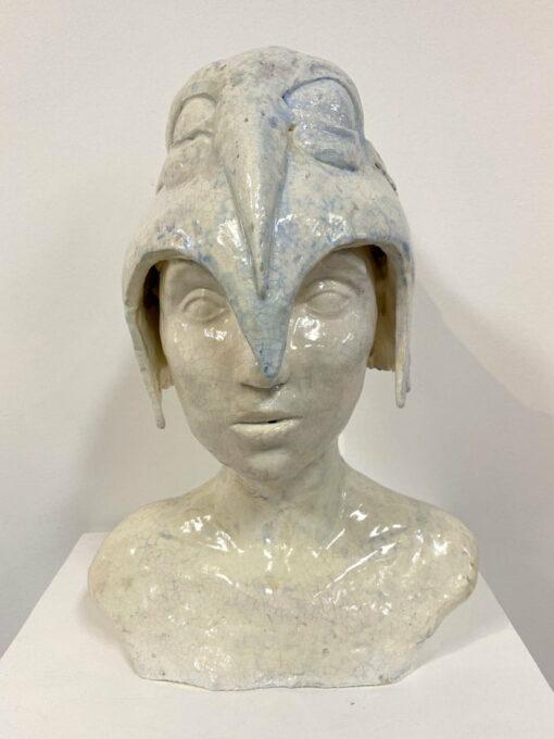 Lauren Rudd Standing Still Looking Around Sculpture Front