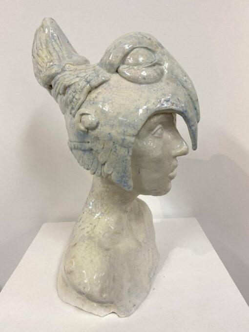 Lauren Rudd Standing Still Looking Around Sculpture Side 1