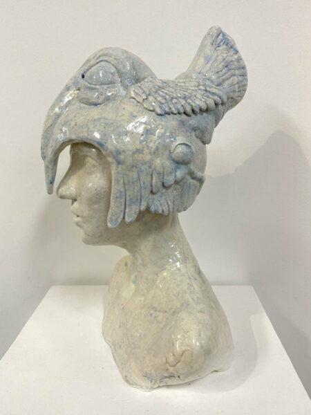 Lauren Rudd Standing Still Looking Around Sculpture Side