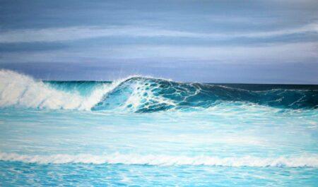 Ann Steer Cool Blue Acrylic Painting
