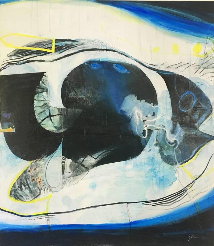 Geoff Wake Two Fish Swimming Painting