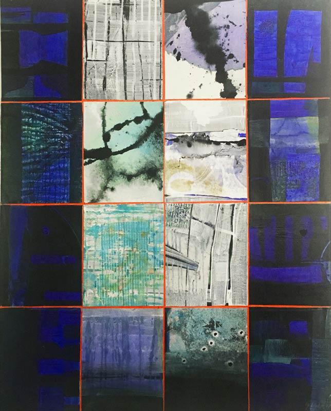 Geoffrey Wake 16 Windows Night And Day Painting 1