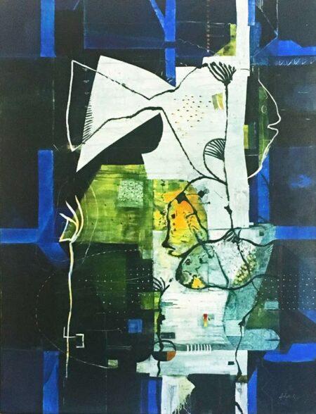 Geoffrey Wake Fish Forrest Painting