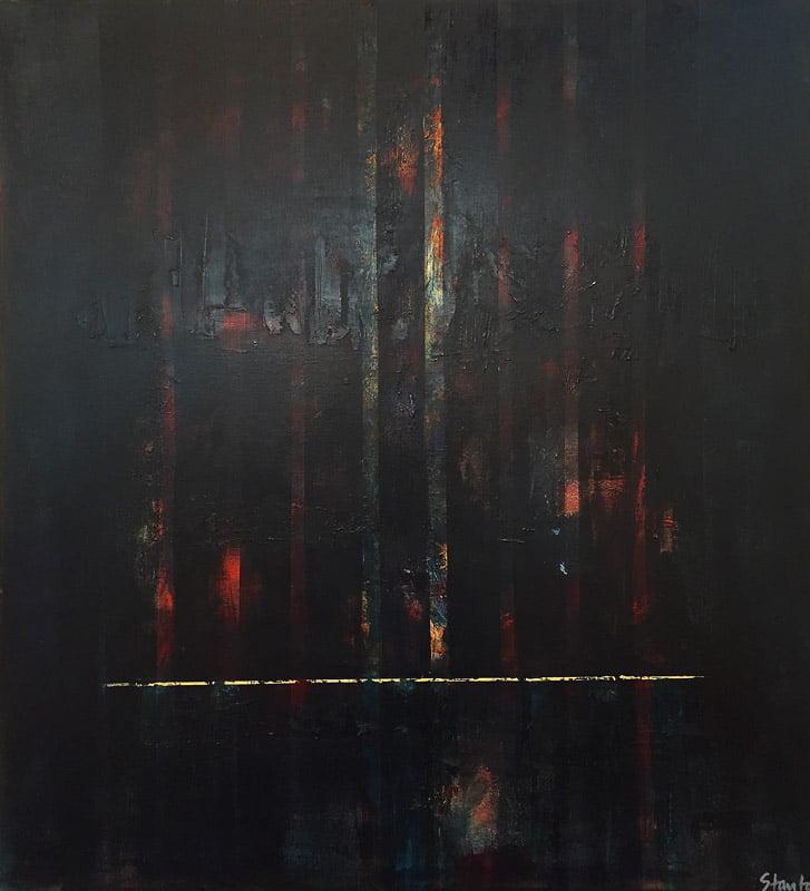 Ralph Stanton Forest Night Painting 1