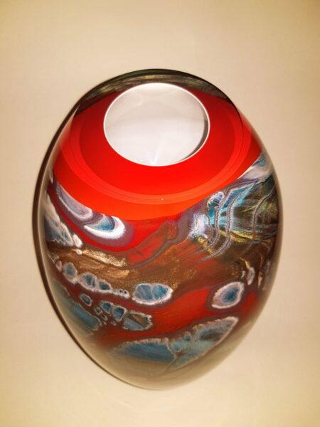 Rick Cook Windows To The Sea Glass Vessel