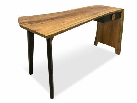 The Cascade Gallery Desk Marri Single Slab Front Open Side