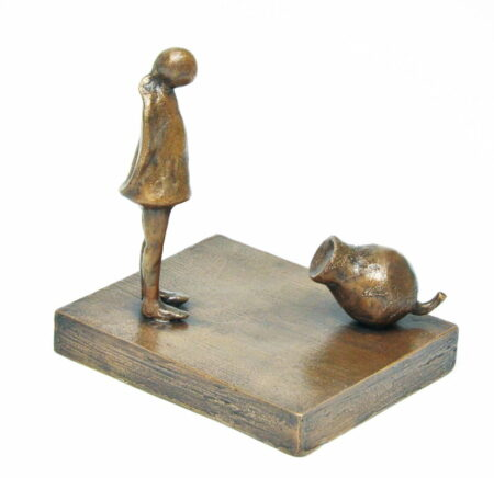 Yuko Takahashi Friendship Bronze Sculpture Above