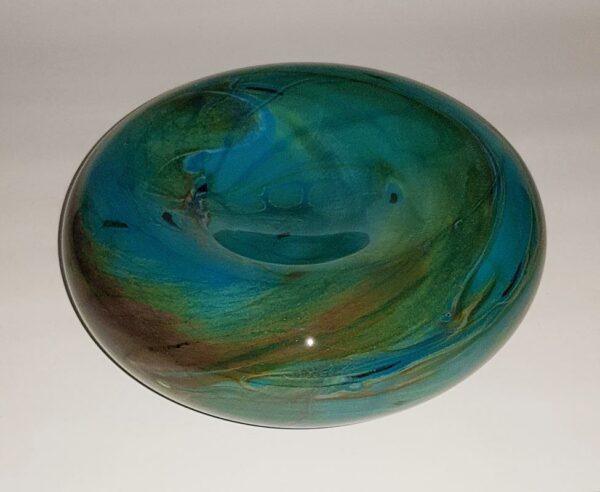 Rick Cook Tide Pool Soft Bowl Art Glass Rc14 2