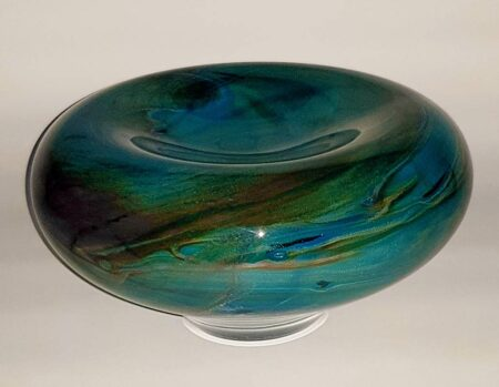Rick Cook Tide Pool Soft Bowl Art Glass Rc14